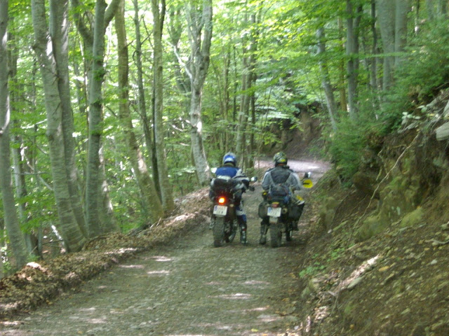 motorcycle through Pyrenees